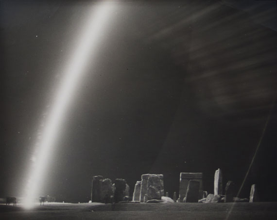 Cows and Flare at Stonehenge Ruins, 1944 © Harold Edgerton Archive, MIT. Courtesy Michael Hoppen Gallery