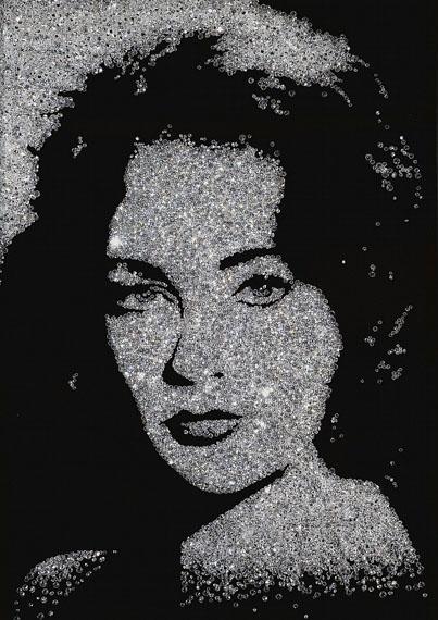 Vik Muniz, Liz Taylor, 2004 © Vik Muniz, Courtesy Edwynn Houk Gallery