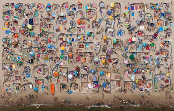 "Kacper Kowalski: ""Beach #9"", 200 x 127 cm, pigment print on Dibond or Diasec, Ed. 5 (+3AP)"