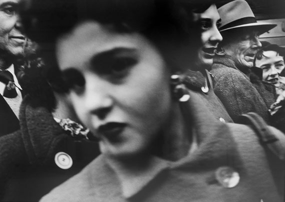 St Patrick's Day, Fifth Avenue, 1954 © William Klein. Courtesy Michael Hoppen Gallery.