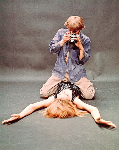 Tazio SecchiaroliDavid Hemmings and Veruschka von Lehndorff in Blow-Up, 1966Film still, Ektachrome, 12.7 x 10.2 cm