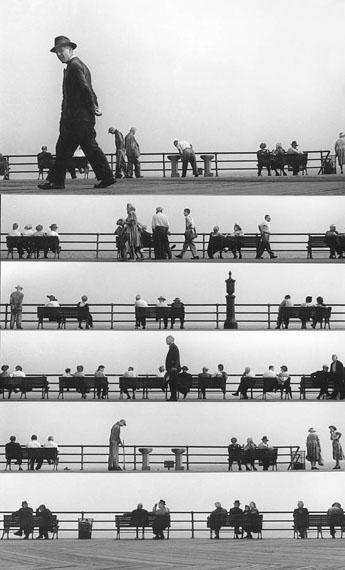 Harold Feinstein: Boardwalk Sheet-music Montage, Coney Island, 1950