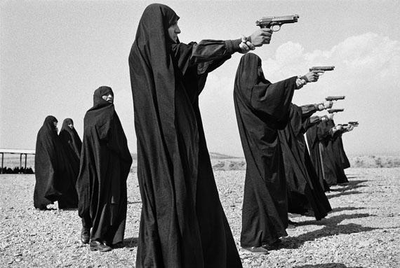 Jean Gaumy . Shooting Practice . Teheran, Iran . 1986  © Jean Gaumy / Magnum Photos