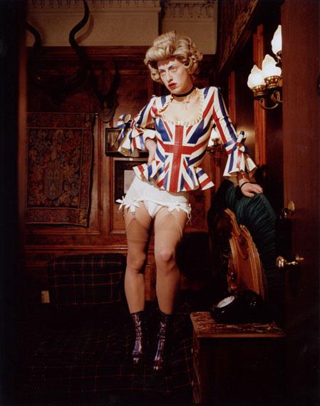 © Bettina Rheims, Bonkers - A Fortnight in LondonHarriet Vernet - Queenie Standing on the Bed 2013