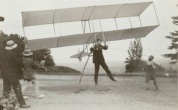 Jacques-Henri LartigueAircraft in the Field Include the Kite, the Pic 3, the ZYX23 and Zissou's Glider, the ZYX24Gelatin silver printRouzat, 1910Collection Rijksmuseum, purchased with the support of Baker & McKenzie Amsterdam N.V.