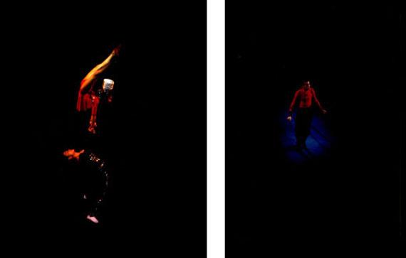 Rhona Bitnerleft: Untitled (#99 110SH; de la série Circus), 1999right: Untitled (#96 105FM3; de la série Circus), 1996Ilfochrome monté sur aluminium25.4 x 20.3 cmEd. 4/5 + 2AP, signée© Rhona Bitner