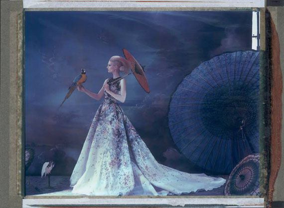 Cathleen NaundorfL'arche de Noé XXXIII, Elie Saab HC Summer 2014, Philip Treacy HC Summer 2014, Photostudio Deux chose Lune, Paris, 2014Colour print from original Polaroid35 x 51 in.© Cathleen Naundorf