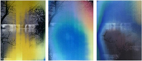 Waterfall (2014) lenticular photograph. 120cm x 90cm x 3 panels - Ed. of 3 © Han Lei / M97 Gallery
