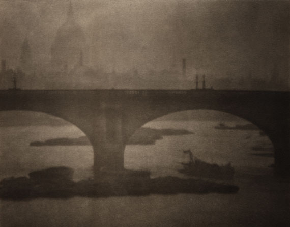 'Waterloo Bridge from London Bridge', London, 1903. 