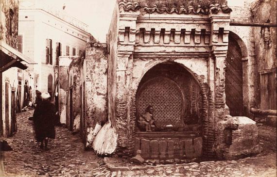 295. James Valentine (1815-1880) Morocco, c. 1875. Tangier. A moorish well. Albumen print.