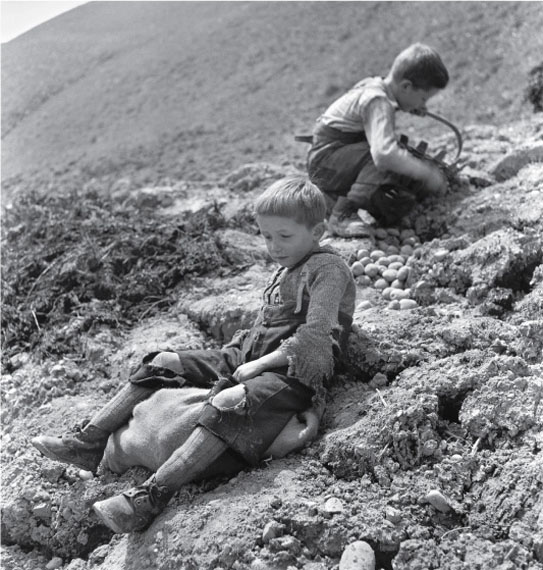 Theo Frey, Planting potatoes in Entlebuch, Romoos, 1941© Fotostiftung Schweiz (Swiss Foundation of Photography)