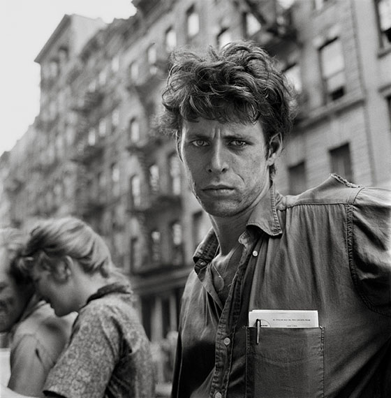 Larry FinkTurk Leclair, MacDougal Street, New York, 1958Archival digital pigment printEd. of 2514 15/16 x 14 15/16 in. (38 x 38 cm)© 2014 Larry Fink, courtesy by FEROZ Galerie, Bonn