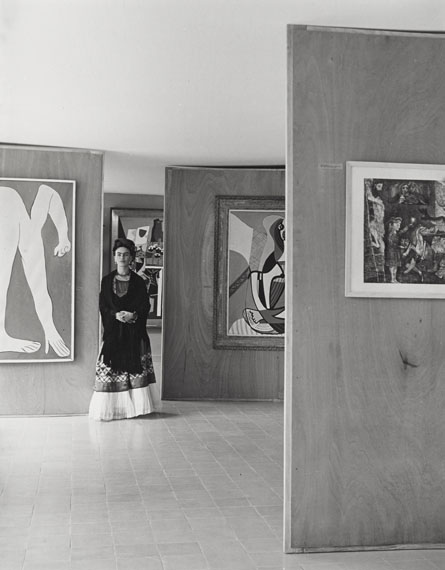 MANUEL ALVAREZ BRAVO (1902-2002)Frida Kahlo at the Picasso Exhibition, Mexico City, 1944Gelatin silver print, probably printed 1970s9 5/16 x 7 1/2in$3,500 - 4,500