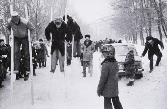 Vladimir Vorobiev. The Maslenitsa Festival at the Miners District Novokuznetsk, March 10, 1984.© РОСФОТО