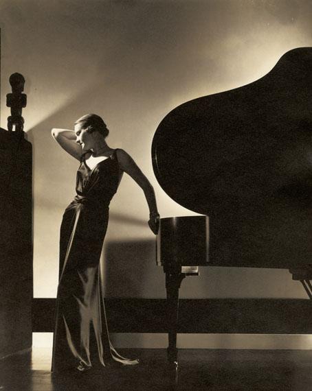 EDWARD STEICHENModel Margaret Horan in a black dress by Jay-Thorpe, 1935Courtesy Condé Nast Archive© 1935 Condé Nast Publications