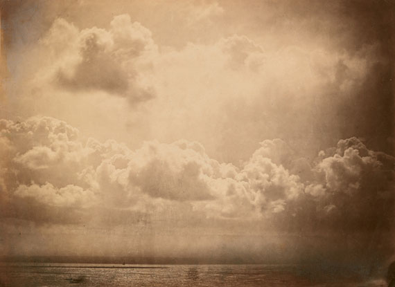 Gustave Le Gray, Seascape with Clouds, albumen print, 1856. Estimate $12,000 to $18,000.