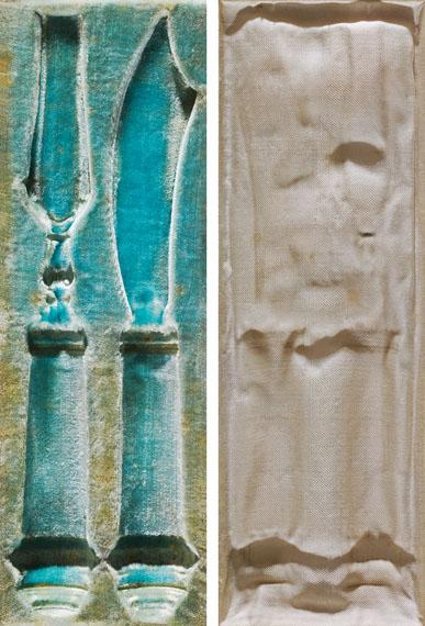 Sinje Dillenkofer: CASE 1, zweiteilig, je 44 × 16 cmVorschneidebesteck des Tiroler Erblandvorschneideramtes(Kunstgeschichtliche Sammlungen Tiroler Landesmuseen)© Sinje Dillenkofer 2015
