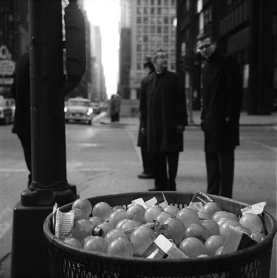 "VIVIAN MAIER: CHICAGO (""LIGHT BULBS IN TRASH CAN""), 1967-68