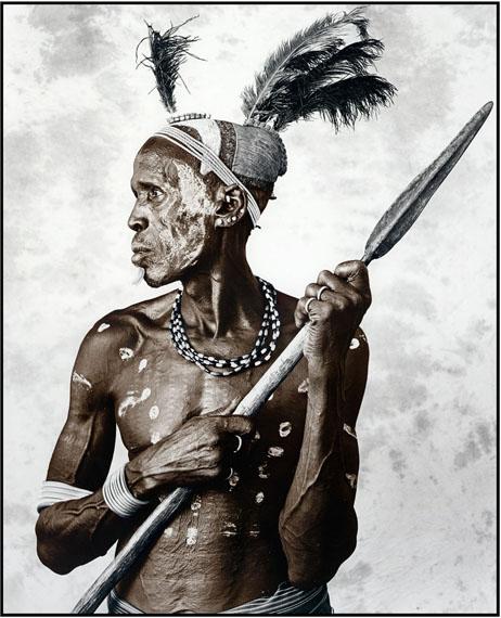 Jan C. SchlegelBiwa (44), Picture I, Karo Tribe, Ethiopia 2009Silver Gelatin Print, tonedEdition of 10© Jan C. Schlegel/ Courtesy of Bernheimer Fine Art