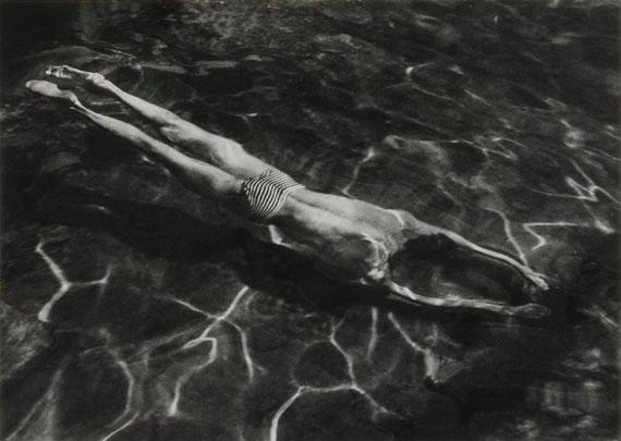 André Kertész (1894-1985)Swimmer, Esztergom.Hungary, 1917.Gelatin silver print, signed
