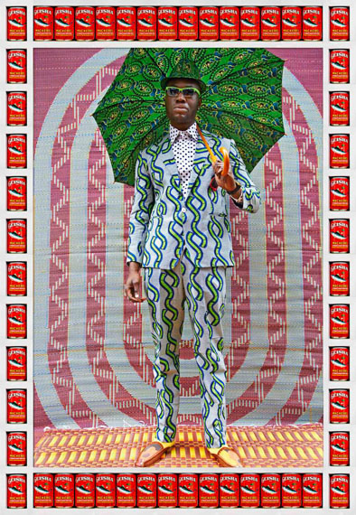 Hassan HajjajAfrikan Boy, 2013Metallic Lambda print on Dibond with wood and found objects53.5 x 37 inCourtesy of the artist and GUSFORD | los angeles