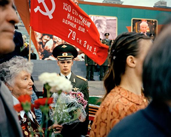 Veteranen am Weißrussichen Bahnhof . 60. Jahrestag vom Ende des Zweiten Weltkrieges in Europa, Moskau, 2005 © Marc Beckmann