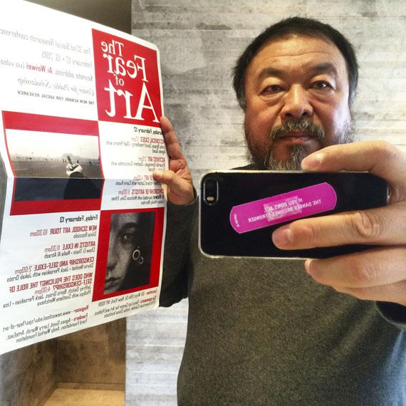 Ai Weiwei: 9. März, 2015 auf Instagram gepostetes Foto, (https://instagram.com/aiww/)© Ai Weiwei