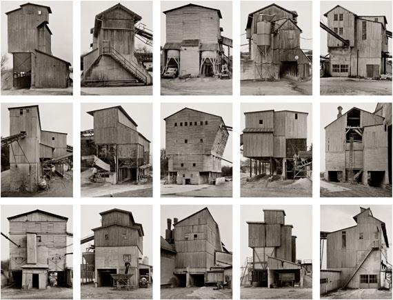 Bernd und Hilla Becher, Kies- und Schotterwerke, 1988-2001© Bernd und Hilla Becher. Courtesy Sonnabend Gallery and The Walther Collection
