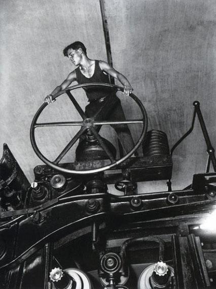 Arkadiy Shaikhet. Komsomolets at the helm of the paper machine. Balakhna, 1929