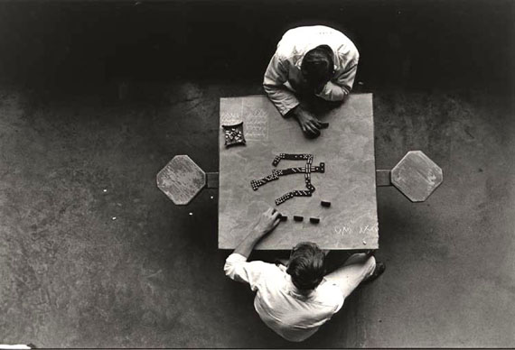 The Dominoes Players, Walls Unit, TDC, 1967 ©Danny Lyon/Courtesy of Edwynn Houk Gallery, New York