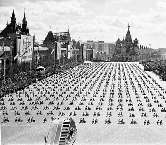 Valentin Khukhlaev. Sport parade on Red Square, 1975