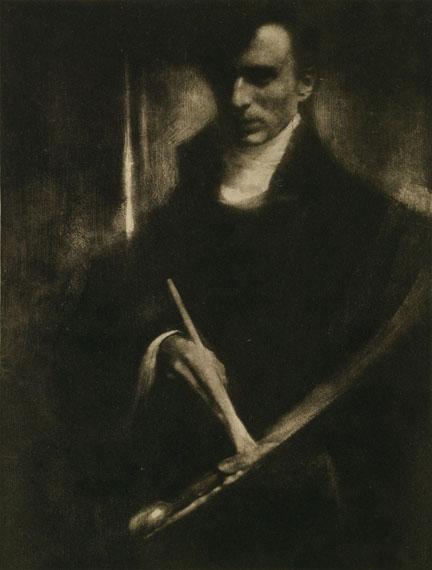 Edward Steichen: Self-portrait with Brush and Palette, 1901, Photogravure, Camera Work