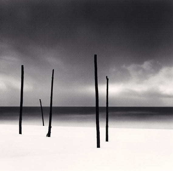 Michael Kenna: Five Poles, Tomamae, Hokkaido, Japan, 2004 © Michael Kenna