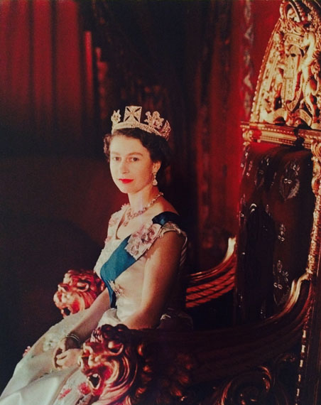 Queen Elizabeth upon her Coronation, by Cecil Beaton1953Rare vintage large-format early colour process printPrint size 47.5cm x 38.5cm