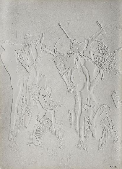 (208) Raoul Ubac (1910-1985) Le combat des Penthésilées, 1939. Vintage gelatin silver print, signed and dated.