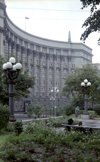 Naum Granovsky. The building of the Council of Ministries. the Ukrainian SSR, 1960s