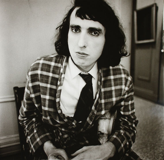 Diane Arbus Tiny Tim, c. 1966 Gelatin silver print printed later by Neil SelkirkEdition of 7515 х 14.5 in. Est. 4,000–6,000 USD