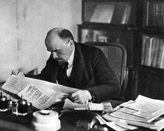 Pyotr Otsup. Lenin in his Kremlin office, October 1918