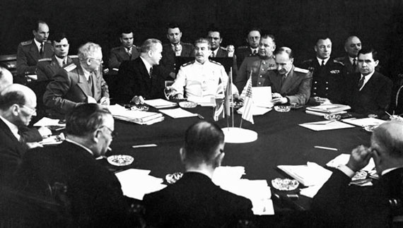 Yevgeny Khaldei. Soviet delegation at Potsdam Conference, 1946