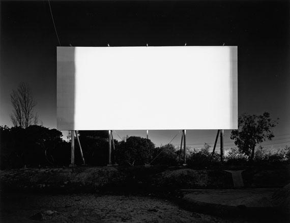 Hiroshi Sugimoto, Stadium Drive-In, Orange, silver print, 1993. Estimate $8,000 to $12,000.