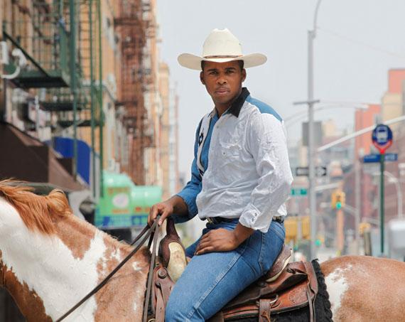 Andrea Robbins/Max Becher: Black Cowboys: Kareem, Harlem, NY © Robbins/Becher