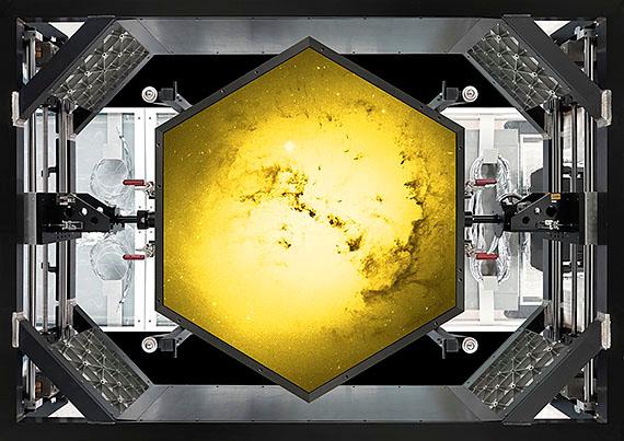 golden eye II, 2012, 132 x 202 cm, Ed. 6 © michael najjar