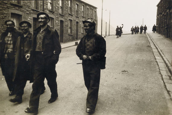 Robert Frank, Welsh Miners, silver print, 1951-53, printed circa 1970. Estimate $20,000 to $30,000.