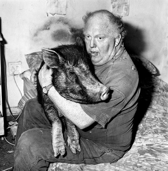 Roger Ballen: Brian with pet pig © Roger Ballen