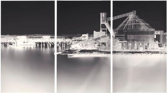 Lot 33VERA LUTTER (B. 1960)Erie Basin, Red Hook, VI: September 17, 2003unique gelatin silver print in three parts94 x 165 in. (240.3 x 419.1 cm.)£30,000-40,000