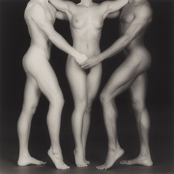 Lot 51ROBERT MAPPLETHORPE (1946-1989)Ken, Lydia and Tyler, 1985gelatin silver print19 x 15 in. (49.7 x 38.7 cm.)This work is number 4 from the edition of 10.£50,000-70,000