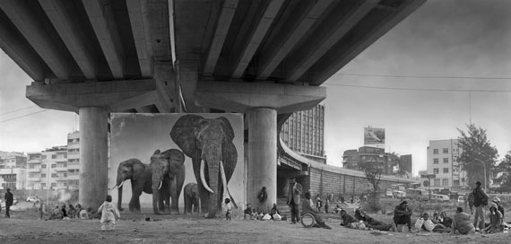 Nick Brandt: Underpass with Elephants (Lean Back, Your Life is On Track), 2015     © Nick Brandt. Courtesy of the artist and Edwynn Houk Gallery, New York and Zurich