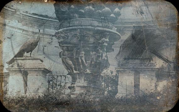 Joseph-Philibert Girault de Prangey, Rome. Vatican. La Pigna, daguerreotype, executed c. 1842, 12 by 18.5 cm. Estimate: £20,000–30,000