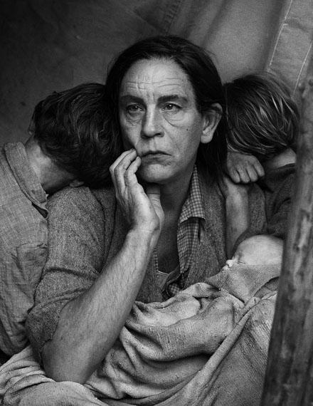 Dorothea Lange,  Migrant Mother, Nipomo, California (1936), 2014  © Sandro Miller