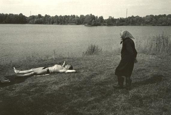 Viktor Kolář. Coalminer's mother and youngman, 2004